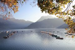 Swiss autumn lake 1 Stock Photography