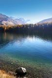 Swiss autumn lake royalty free stock photo