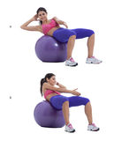 Swiss ball oblique crunch Stock Image