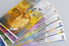 Swiss Bank bills Royalty Free Stock Images