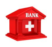 Swiss Bank Building Isolated. On white background. 3D render Royalty Free Stock Photography
