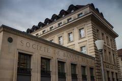 Swiss Bank Corporation. Societe de Banque Suisse in Lausanne, Switzerland Royalty Free Stock Photography
