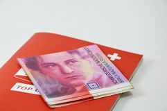 Swiss banknote Royalty Free Stock Photos