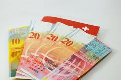 Swiss banknote Royalty Free Stock Photography