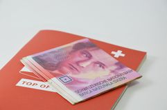 Swiss banknote Stock Images