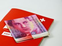 Swiss banknote Stock Photography