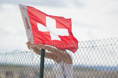 Swiss Banner Royalty Free Stock Photography