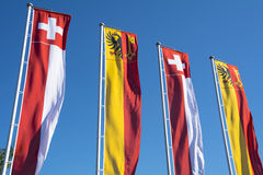 Swiss banners Royalty Free Stock Images
