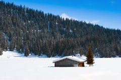 Swiss Barn in Winter Royalty Free Stock Photo