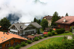 Swiss building in Wengen Royalty Free Stock Photos