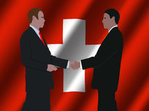Swiss business meeting Royalty Free Stock Images