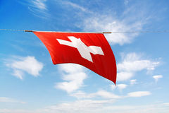 Swiss Canton Flag Series: the national fla Royalty Free Stock Photos