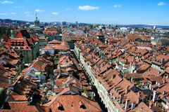 Swiss capital Bern. From the Munster Cathedral Stock Images