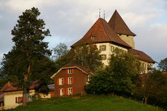 Swiss Castle. Trachselwald Castle is located in the Emmental region of Switzerland (Berne County Royalty Free Stock Images