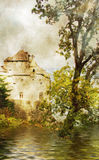 Swiss castle. Pictorial picture of Swiss castle Stock Image