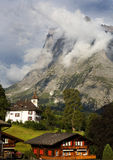 Swiss Chalet below the Eiger Royalty Free Stock Images