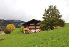 Swiss chalet in Gstaad Royalty Free Stock Image