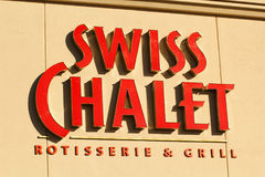 Swiss Chalet Sign Stock Images