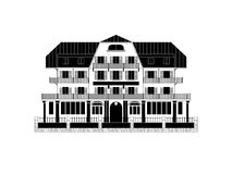 Swiss Chalet Vector Illustration Royalty Free Stock Photos