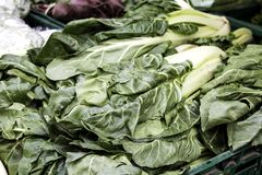 Free Swiss Chard In Market Royalty Free Stock Images - 158384029
