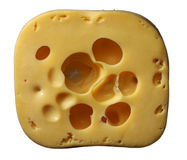 Swiss cheese. White background, Isolated Royalty Free Stock Images