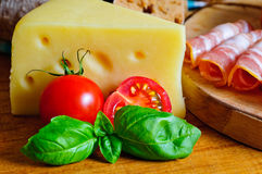 Swiss cheese royalty free stock photo