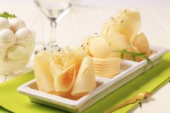 Swiss Cheese And Butter Stock Photo