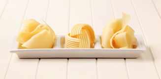 Swiss Cheese And Butter Royalty Free Stock Photos
