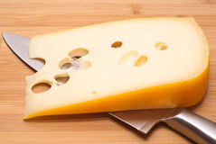 Swiss cheese emmenthal Stock Photo