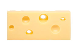 Swiss cheese with holes Royalty Free Stock Photography