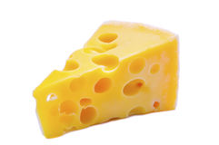 Swiss cheese with holes Royalty Free Stock Images