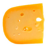 Swiss Cheese Isolated on White Background Royalty Free Stock Photos