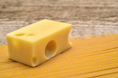 Swiss cheese and pasta Royalty Free Stock Images