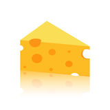 Swiss Cheese piece with holes Stock Photos