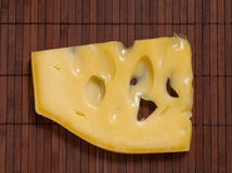 Swiss cheese. Royalty Free Stock Image