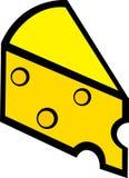 Swiss cheese slice vector illustration. Vector illustration of a swiss cheese slice Stock Photography
