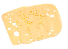 Swiss cheese, sliced Royalty Free Stock Photography