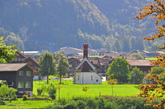Swiss church. In Lungern, Bernese Alps Stock Photography
