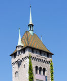Swiss church detail Royalty Free Stock Photography