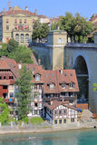 The Swiss city of Berne on the Aare River. Stock Photo
