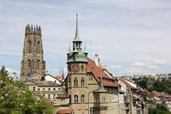 Swiss City Fribourg Royalty Free Stock Photography