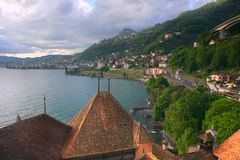 Swiss city Montreux Stock Photos