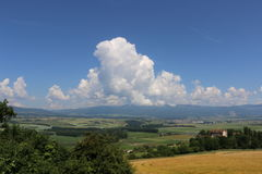 Swiss clouds View Royalty Free Stock Photography