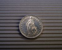Swiss coin is two francs Royalty Free Stock Photography