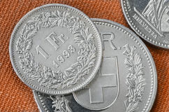 Swiss coins Stock Photography