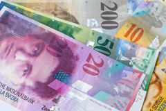 Swiss currency banknote Royalty Free Stock Image