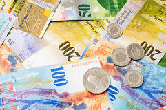 Swiss currency francs Stock Photography