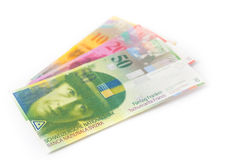 Swiss currency money franc Royalty Free Stock Photos