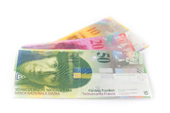 Swiss currency money franc Royalty Free Stock Photo