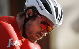 Gregory Rast cyclist royalty free stock images